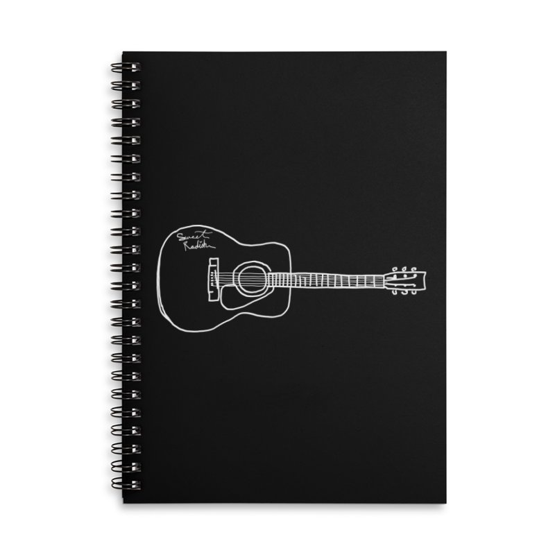 ABE'S GUITAR Accessories Lined Spiral Notebook by jackrabbithollow's Artist Shop