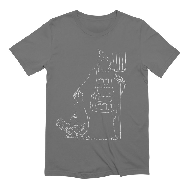 Grim the Egg Dealer Men's Extra Soft T-Shirt by jackrabbithollow's Artist Shop