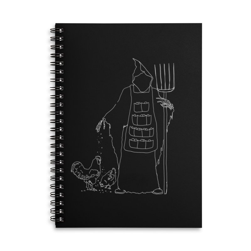 Grim the Egg Dealer Accessories Lined Spiral Notebook by jackrabbithollow's Artist Shop