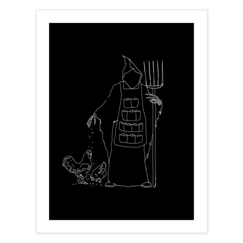 Grim the Egg Dealer Home Fine Art Print by jackrabbithollow's Artist Shop