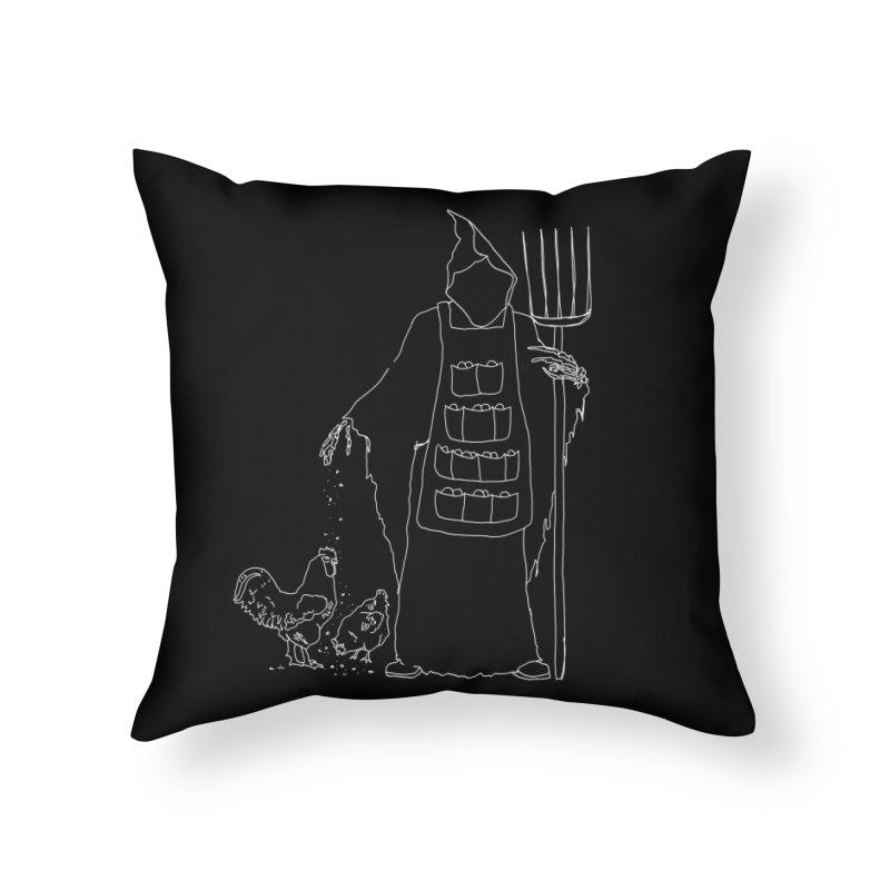 Grim the Egg Dealer Home Throw Pillow by jackrabbithollow's Artist Shop