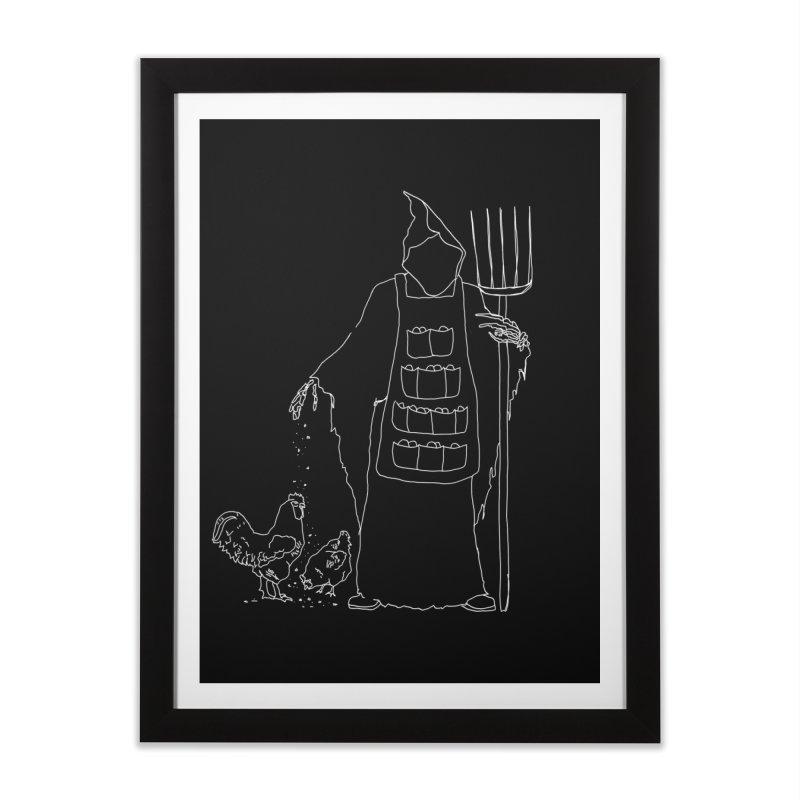 Grim the Egg Dealer Home Framed Fine Art Print by jackrabbithollow's Artist Shop