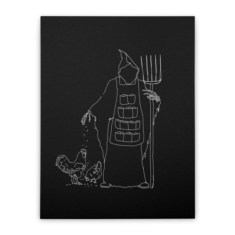 Grim the Egg Dealer Home Stretched Canvas by jackrabbithollow's Artist Shop
