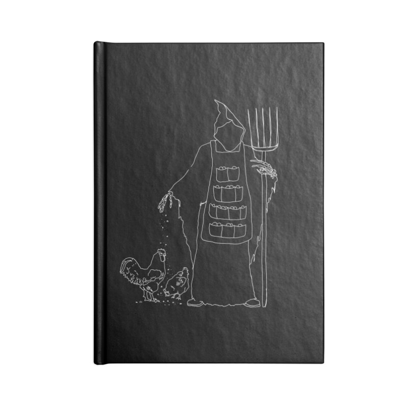 Grim the Egg Dealer Accessories Lined Journal Notebook by jackrabbithollow's Artist Shop