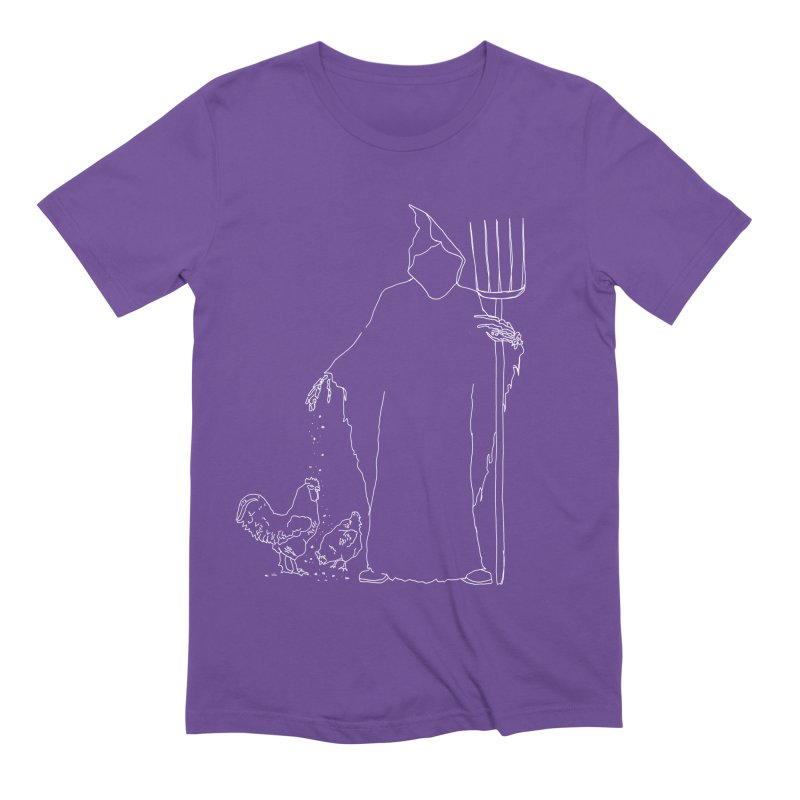 Grim Farmer the Chicken Enthusiast Men's Extra Soft T-Shirt by jackrabbithollow's Artist Shop