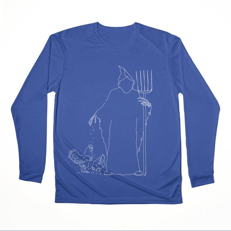 Grim Farmer the Chicken Enthusiast Women's Performance Unisex Longsleeve T-Shirt by jackrabbithollow's Artist Shop