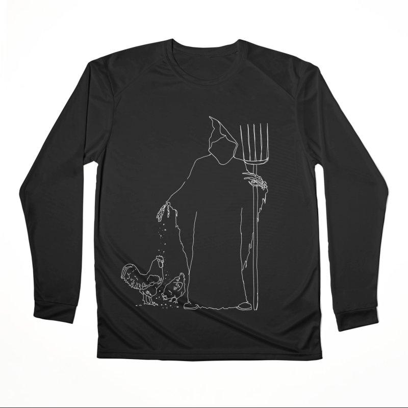 Grim Farmer the Chicken Enthusiast Men's Performance Longsleeve T-Shirt by jackrabbithollow's Artist Shop