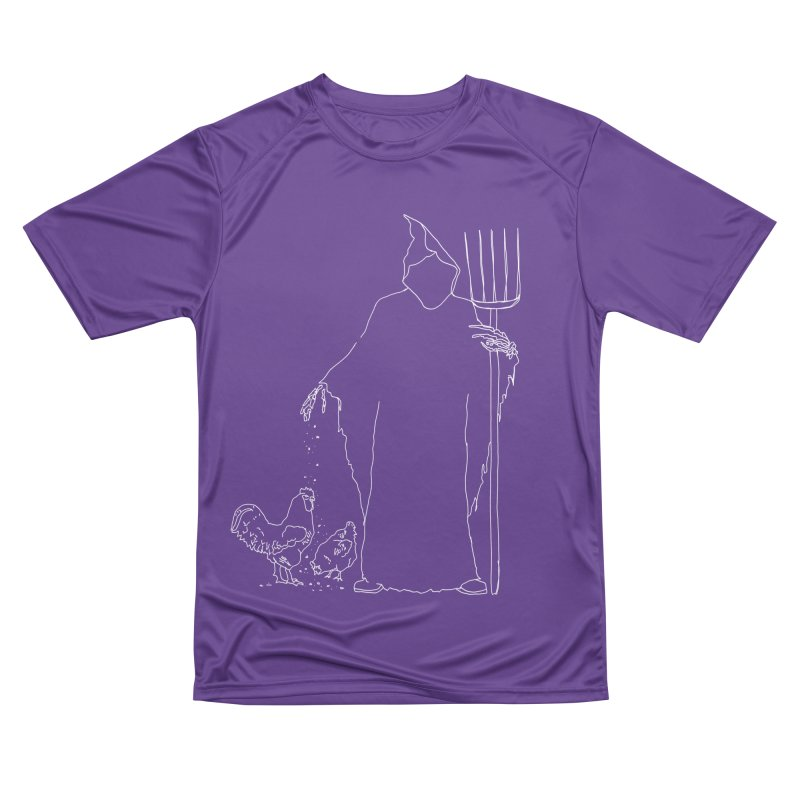 Grim Farmer the Chicken Enthusiast Men's T-Shirt by jackrabbithollow's Artist Shop