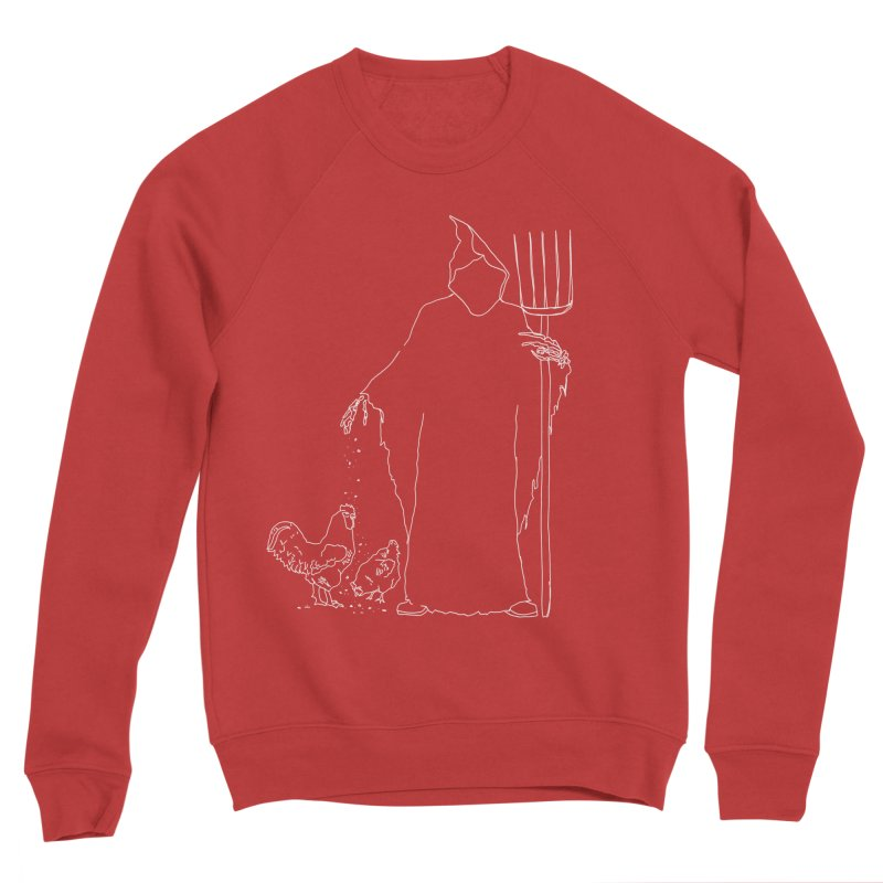Grim Farmer the Chicken Enthusiast Men's Sponge Fleece Sweatshirt by jackrabbithollow's Artist Shop