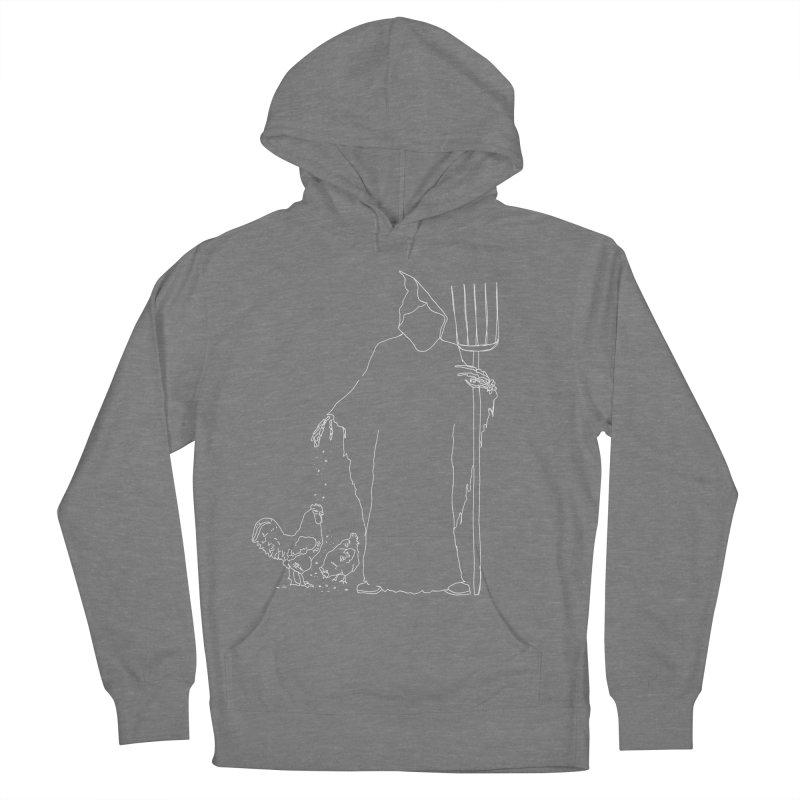 Grim Farmer the Chicken Enthusiast Men's French Terry Pullover Hoody by jackrabbithollow's Artist Shop
