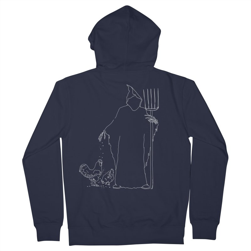 Grim Farmer the Chicken Enthusiast Women's French Terry Zip-Up Hoody by jackrabbithollow's Artist Shop