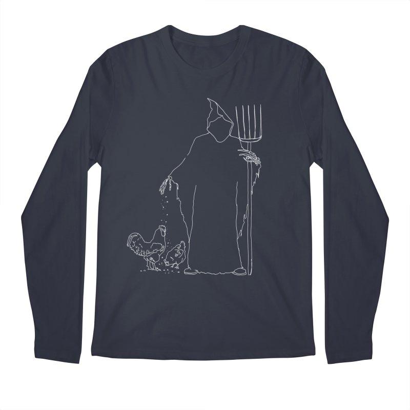 Grim Farmer the Chicken Enthusiast Men's Regular Longsleeve T-Shirt by jackrabbithollow's Artist Shop