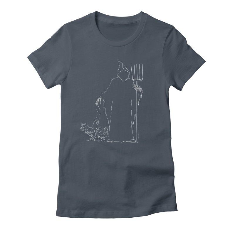 Grim Farmer the Chicken Enthusiast Women's T-Shirt by jackrabbithollow's Artist Shop