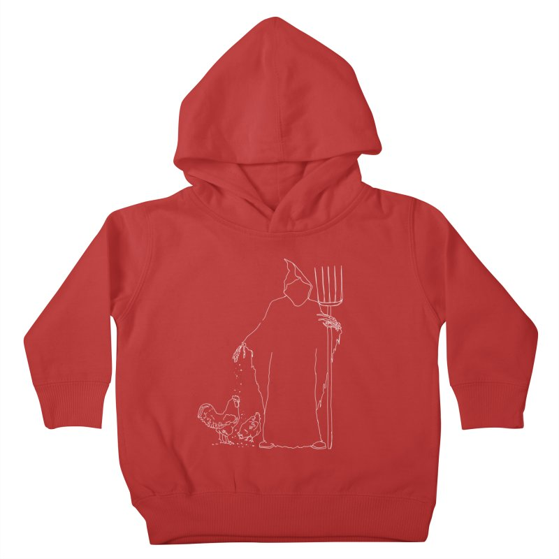 Grim Farmer the Chicken Enthusiast Kids Toddler Pullover Hoody by jackrabbithollow's Artist Shop
