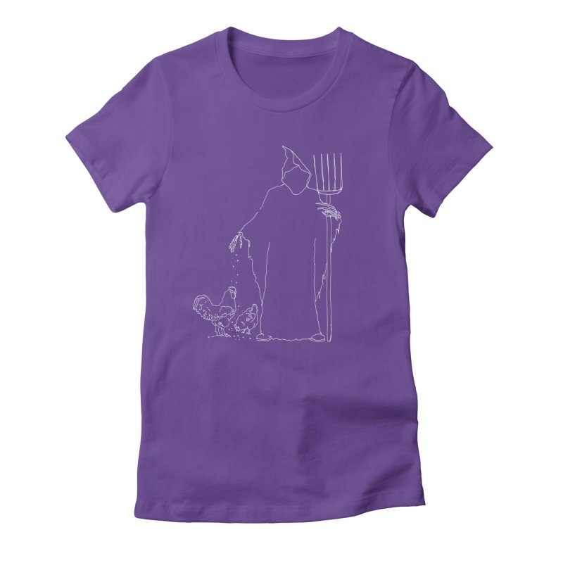 Grim Farmer the Chicken Enthusiast Women's Fitted T-Shirt by jackrabbithollow's Artist Shop