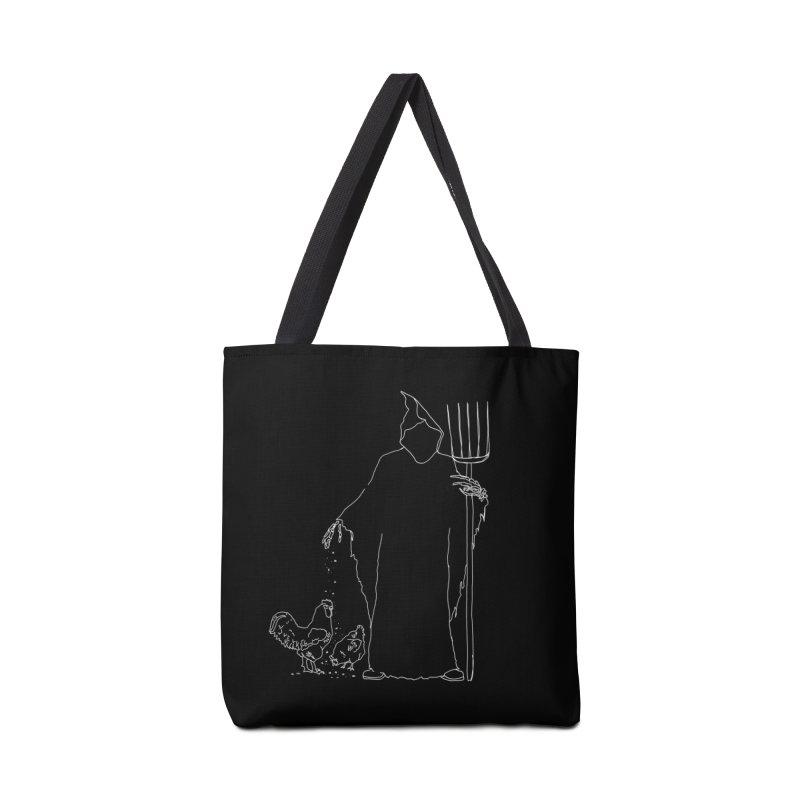 Grim Farmer the Chicken Enthusiast Accessories Tote Bag Bag by jackrabbithollow's Artist Shop