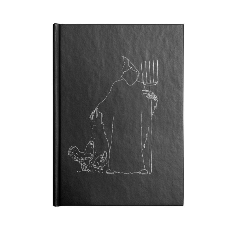 Grim Farmer the Chicken Enthusiast Accessories Notebook by jackrabbithollow's Artist Shop