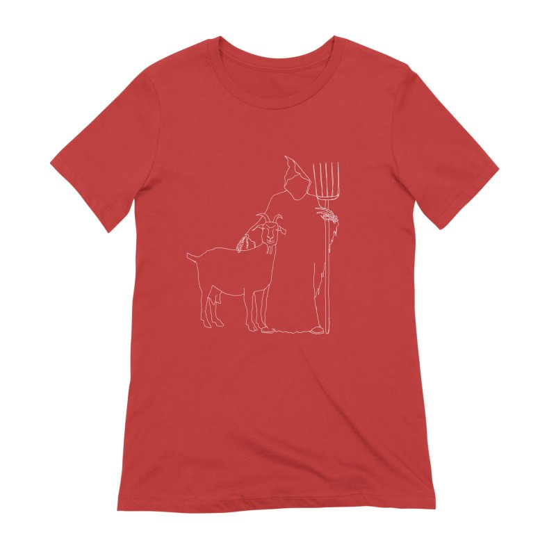 Grim the Farmer & Goat Enthusiast Women's Extra Soft T-Shirt by jackrabbithollow's Artist Shop