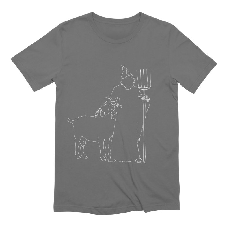 Grim the Farmer & Goat Enthusiast Men's T-Shirt by jackrabbithollow's Artist Shop