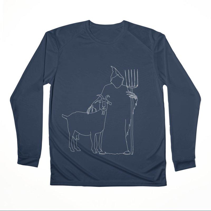 Grim the Farmer & Goat Enthusiast Men's Performance Longsleeve T-Shirt by jackrabbithollow's Artist Shop