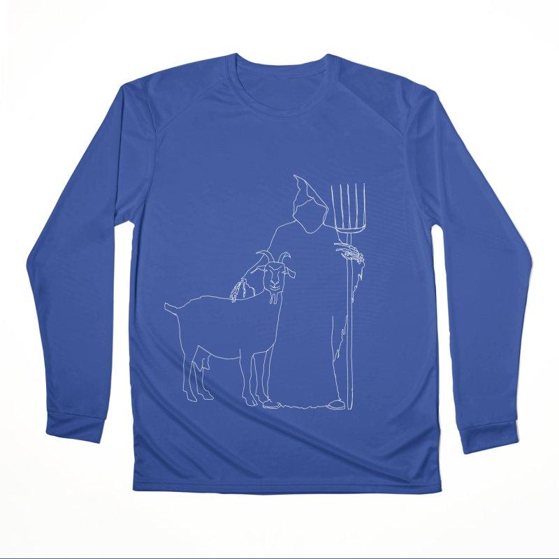 Grim the Farmer & Goat Enthusiast Women's Performance Unisex Longsleeve T-Shirt by jackrabbithollow's Artist Shop