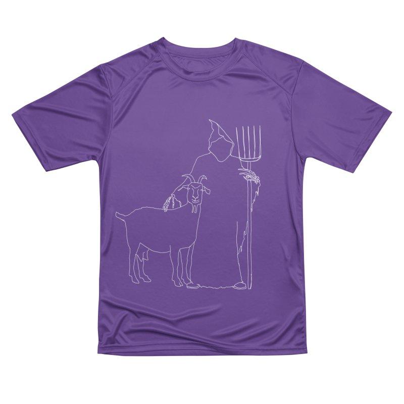 Grim the Farmer & Goat Enthusiast Men's Performance T-Shirt by jackrabbithollow's Artist Shop