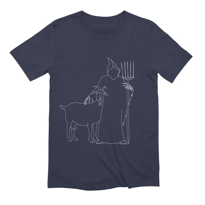 Grim the Farmer & Goat Enthusiast Men's Extra Soft T-Shirt by jackrabbithollow's Artist Shop