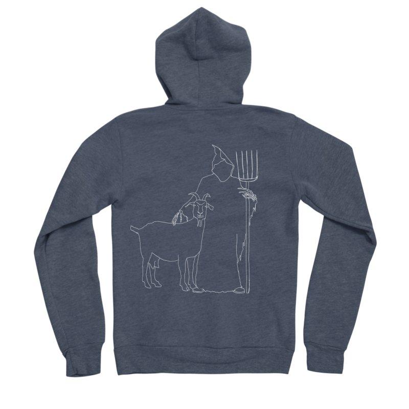 Grim the Farmer & Goat Enthusiast Women's Zip-Up Hoody by jackrabbithollow's Artist Shop