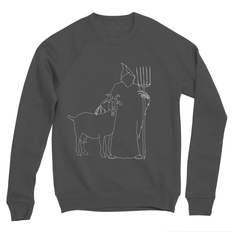 Grim the Farmer & Goat Enthusiast Men's Sponge Fleece Sweatshirt by jackrabbithollow's Artist Shop