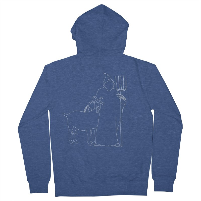 Grim the Farmer & Goat Enthusiast Men's French Terry Zip-Up Hoody by jackrabbithollow's Artist Shop