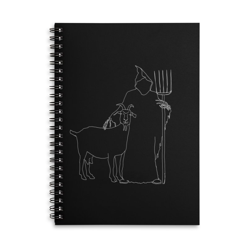 Grim the Farmer & Goat Enthusiast Accessories Lined Spiral Notebook by jackrabbithollow's Artist Shop