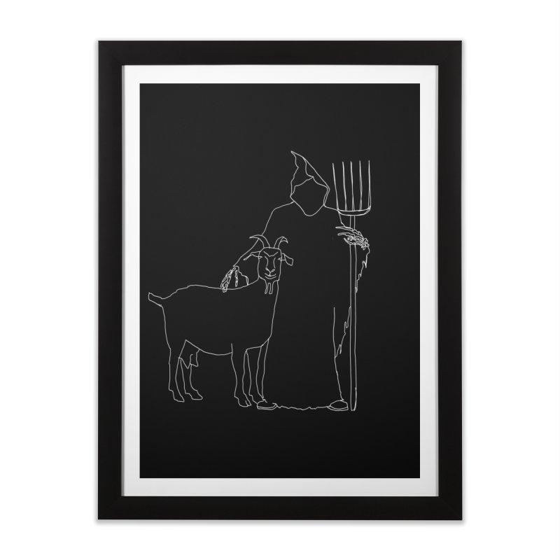 Grim the Farmer & Goat Enthusiast Home Framed Fine Art Print by jackrabbithollow's Artist Shop