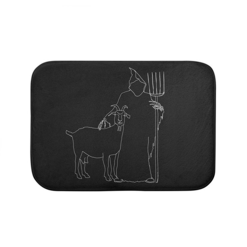 Grim the Farmer & Goat Enthusiast Home Bath Mat by jackrabbithollow's Artist Shop