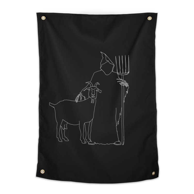 Grim the Farmer & Goat Enthusiast Home Tapestry by jackrabbithollow's Artist Shop