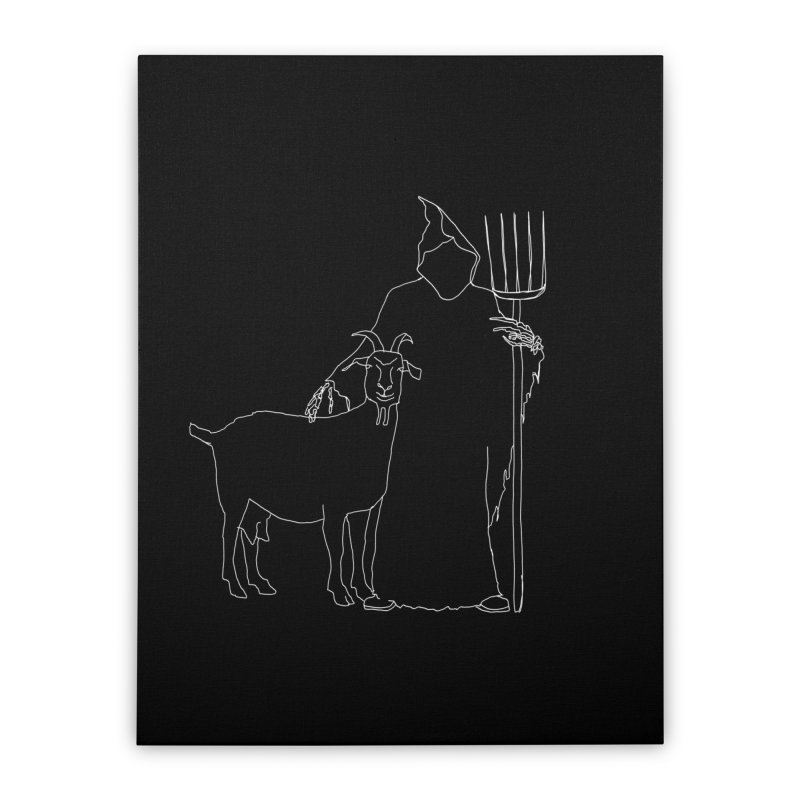 Grim the Farmer & Goat Enthusiast Home Stretched Canvas by jackrabbithollow's Artist Shop