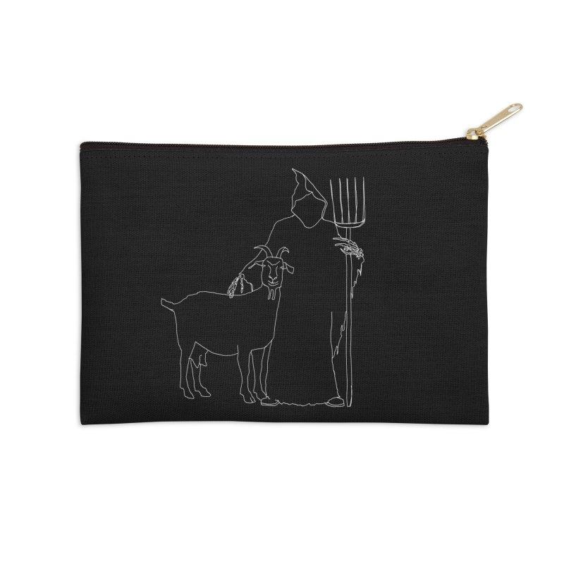 Grim the Farmer & Goat Enthusiast Accessories Zip Pouch by jackrabbithollow's Artist Shop