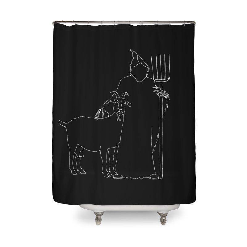 Grim the Farmer & Goat Enthusiast Home Shower Curtain by jackrabbithollow's Artist Shop