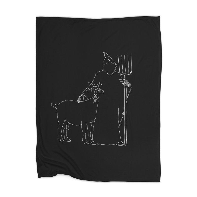 Grim the Farmer & Goat Enthusiast Home Blanket by jackrabbithollow's Artist Shop
