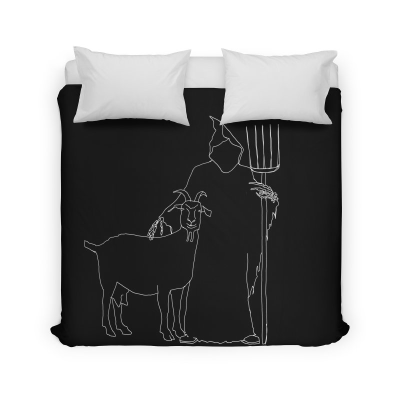 Grim the Farmer & Goat Enthusiast Home Duvet by jackrabbithollow's Artist Shop