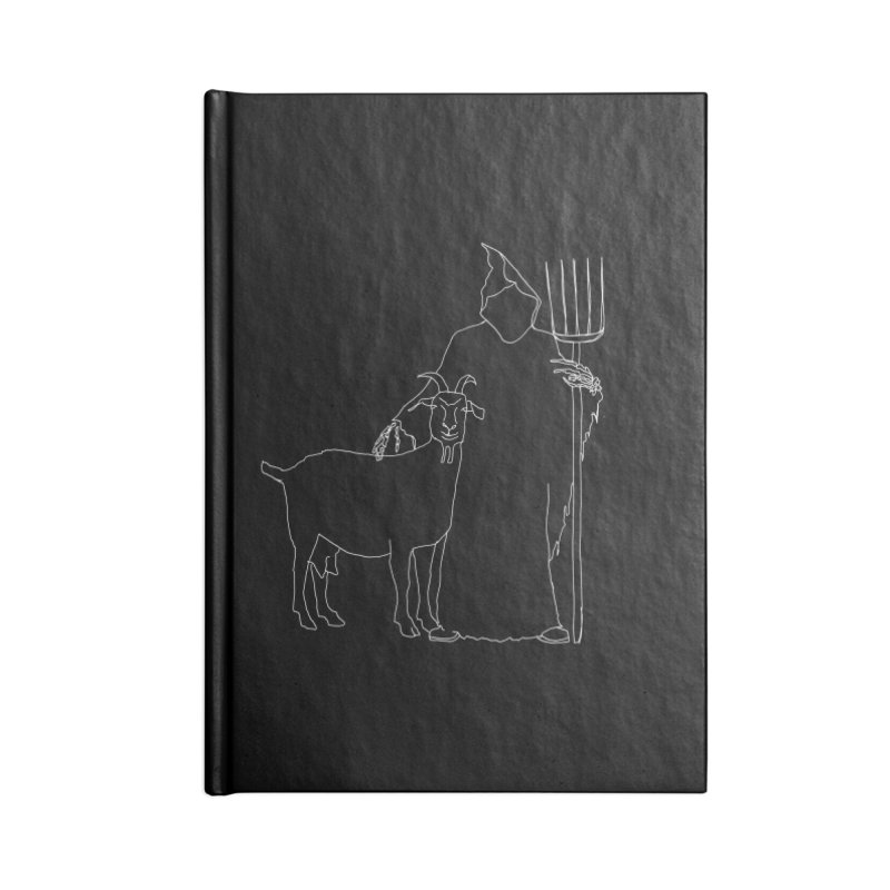 Grim the Farmer & Goat Enthusiast Accessories Lined Journal Notebook by jackrabbithollow's Artist Shop