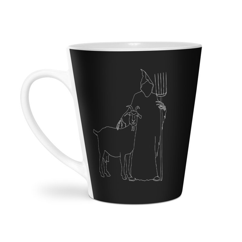 Grim the Farmer & Goat Enthusiast Accessories Latte Mug by jackrabbithollow's Artist Shop
