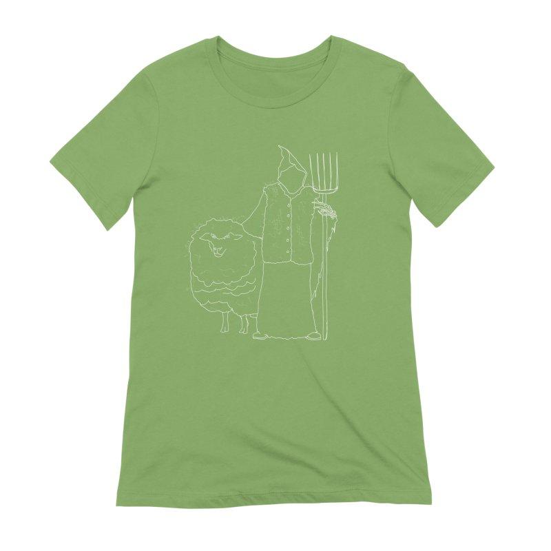 Grim the Farmer and Fiber Artist Women's Extra Soft T-Shirt by jackrabbithollow's Artist Shop