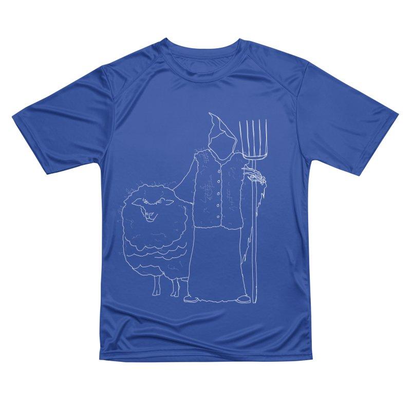 Grim the Farmer and Fiber Artist Men's Performance T-Shirt by jackrabbithollow's Artist Shop