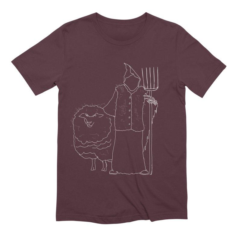 Grim the Farmer and Fiber Artist Men's Extra Soft T-Shirt by jackrabbithollow's Artist Shop