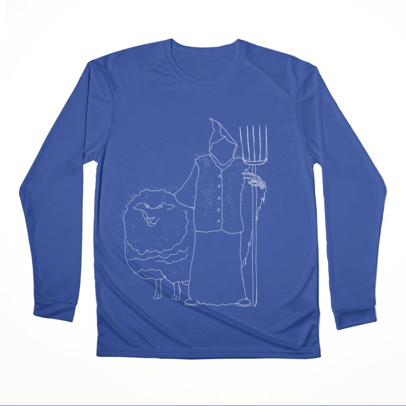 Grim the Farmer and Fiber Artist Women's Performance Unisex Longsleeve T-Shirt by jackrabbithollow's Artist Shop