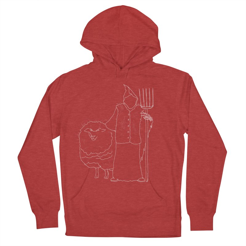 Grim the Farmer and Fiber Artist Men's French Terry Pullover Hoody by jackrabbithollow's Artist Shop