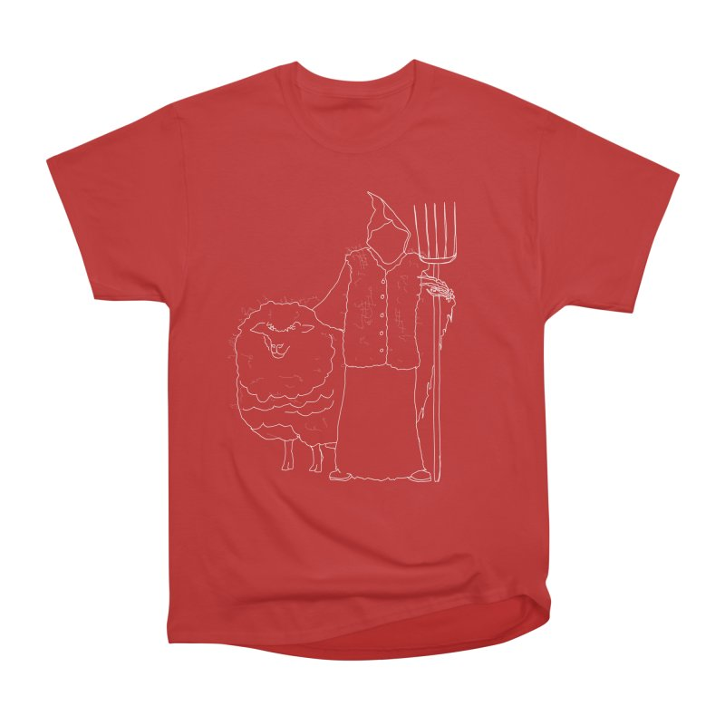 Grim the Farmer and Fiber Artist Men's Heavyweight T-Shirt by jackrabbithollow's Artist Shop