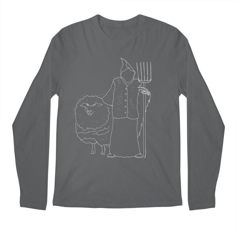 Grim the Farmer and Fiber Artist Men's Longsleeve T-Shirt by jackrabbithollow's Artist Shop