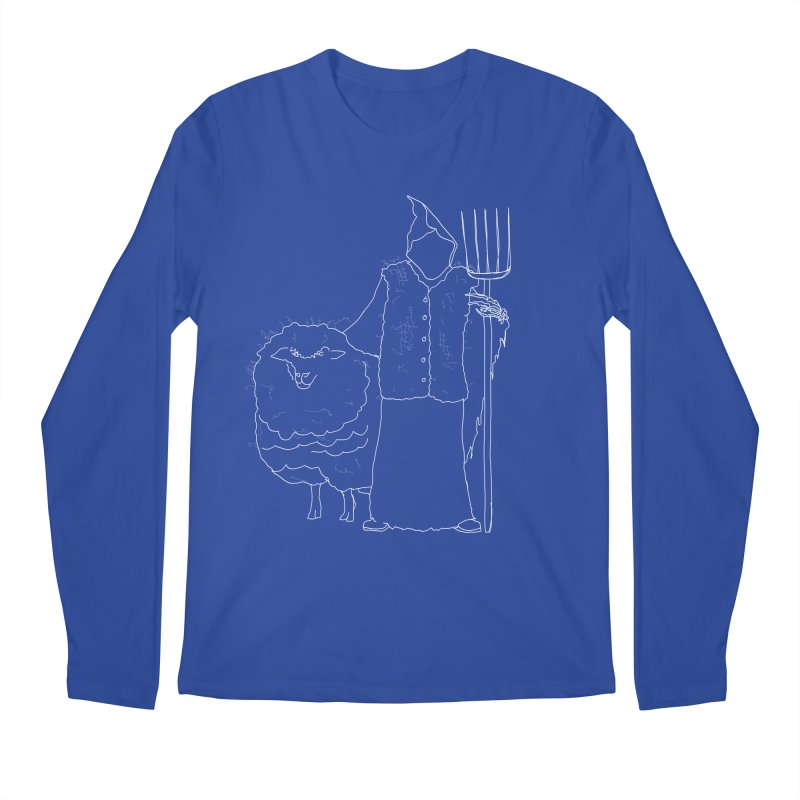 Grim the Farmer and Fiber Artist Men's Regular Longsleeve T-Shirt by jackrabbithollow's Artist Shop