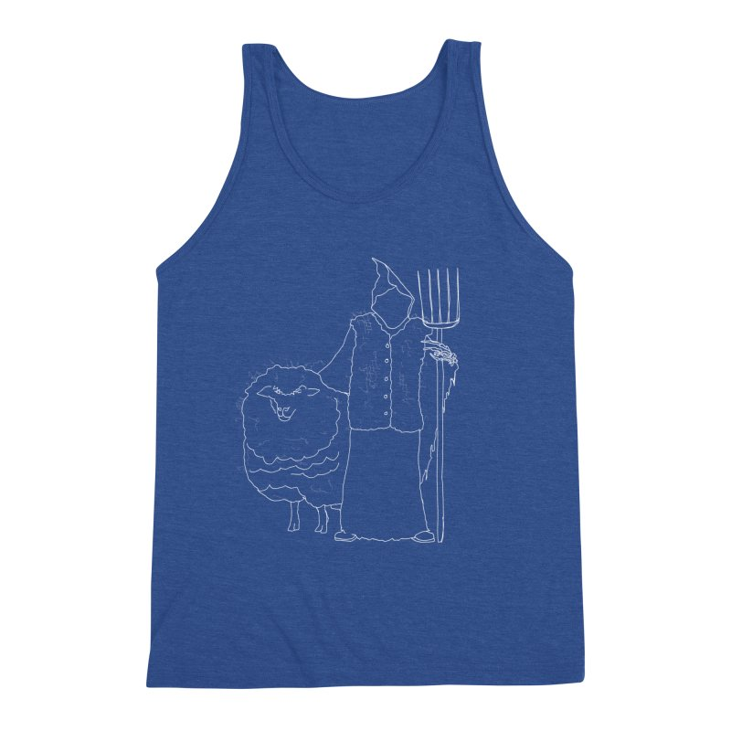 Grim the Farmer and Fiber Artist Men's Tank by jackrabbithollow's Artist Shop